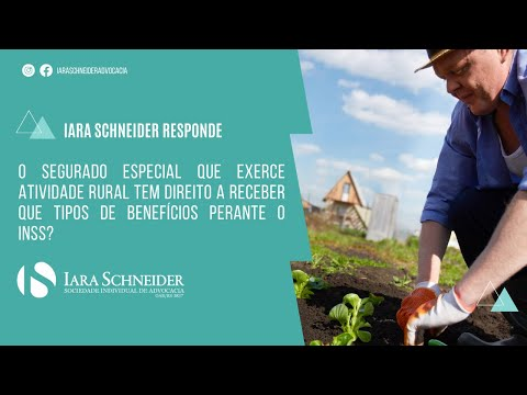 O segurado especial que exerce atividade rural pode receber quais tipos de benefícios?