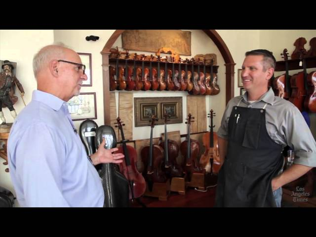 Los Angeles Times Columnist Steve Lopez visits Benning Violins in Studio City