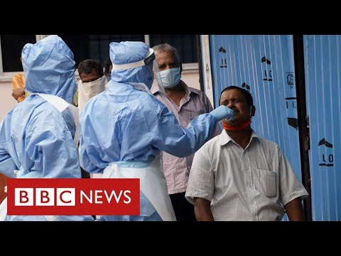 India suffers record new Covid cases with some hospitals overwhelmed - BBC News