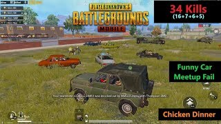 "[Hindi] PUBG Mobile | Car Meetup Fail & ""34 Kills"" Chicken Dinner"