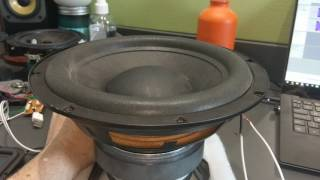 "Philips 8"" Home Subwoofer Excursion"