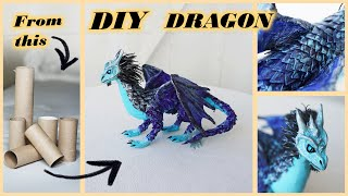 How To Make Paper DRAGON | DIY Tissue/toilet Paper Roll Craft