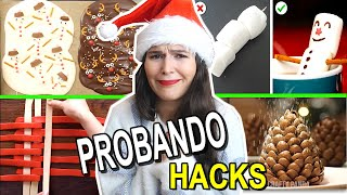 TESTING THE MOST VIRAL CHRISTMAS KITCHEN HACKS! CARO TRIPPAR