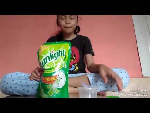 Video Cara membuat slime dari shampo dan sunlight