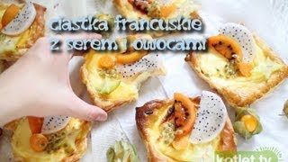 Ciastka francuskie z serem i owocami - Kotlet.TV