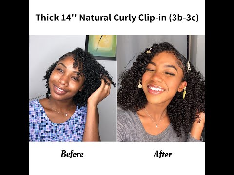 Kinky Curly girl Curly Clip In Hair Extensions 3B/3C