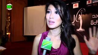 Miss Universe Myanmar 2014 Press Launch Moe Set Wine