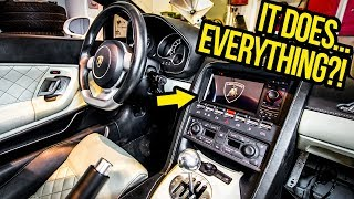 My Cheap Lamborghini Gets A Crazy Cheap Radio (And It's AWESOME?!)