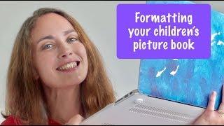 Formatting a children's picture book