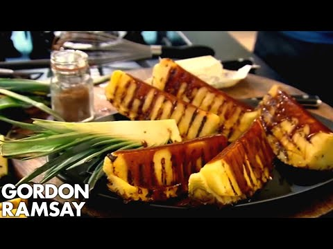Griddled Pineapple with Spiced Caramel - Gordon Ramsay