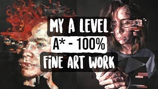 A Level Fine Art Book Flip Through (A* - 100%)