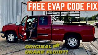 FIXING EVAP Code On A Chevy Silverado For FREE *NASTY Brake Fluid Bonus*