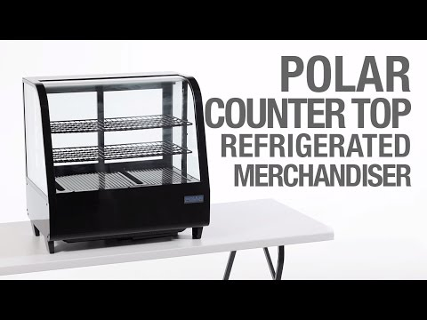 Video Polar display koelvitrine - zwart - inhoud: 100 liter - CC611