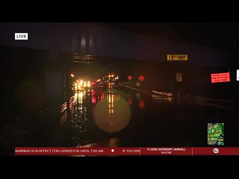 Roads under water in Livingston County after heavy rainfall