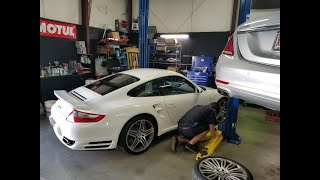 Porsche 997 911 turbo danger of mechanical over revs explained while driving form Chicago to N.C