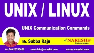 UNIX Communication Commands | UNIX Tutorial | Mr. Subba Raju