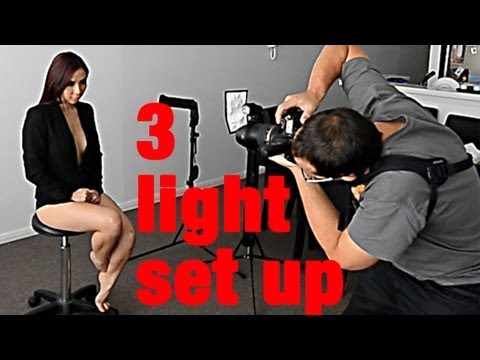 LIVE Photoshoot - 3 light portrait & DIY GOBO background