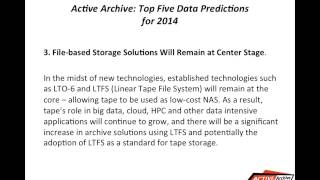 Active Archive: Top Five Data Predictions for 2014