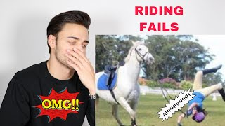 EQUESTRIAN REACTS TO HORSE FALLS AND FAILS