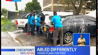 A car wash in Nairobi that offers employment and training to persons with intellectual disability