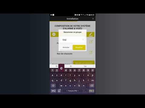 Modifier le nom d'un groupe d'alarme sur l'application e-ONE