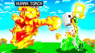 PLAYING as HUMAN TORCH in MINECRAFT!