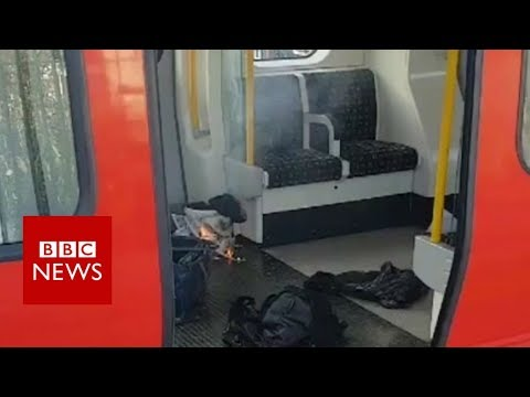 Parsons Green: Video shows burning bag on Tube - BBC News