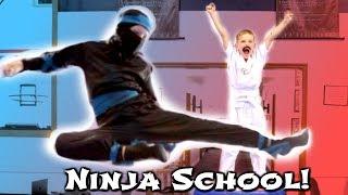 BACK TO NINJA SCHOOL! ft Ninja Kidz TV - SuperHeroKids Hope and Noah SHK Comic