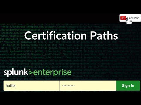 Splunk Certification Paths - YouTube