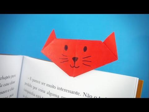 Origami Cat Bookmark Easy Tutorial Easy Origami Video