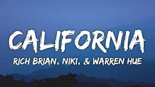 Rich Brian, NIKI & Warren Hue - California (Lyrics)