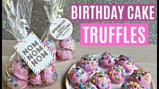 EASY NO BAKE BIRTHDAY CAKE OREO TRUFFLES - CUTE DIY PARTY FAVORS
