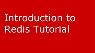 Introduction to Redis tutorial