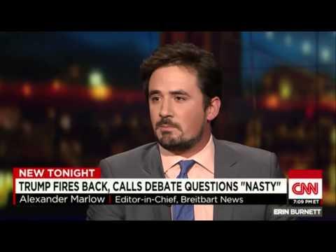 Breitbart's EiC Alex Marlow w/CNN's Kate Bolduan; TrumpMania; 8-8-2015