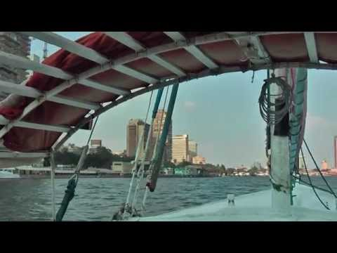 Sailing with a Felucca on the Nile in Cairo, Egypt