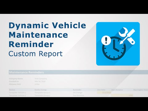 A video showing how Dynamic Vehicle Maintenance Report works.