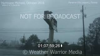 Hurricane Michael Eyewall Storm Chaser Intercept