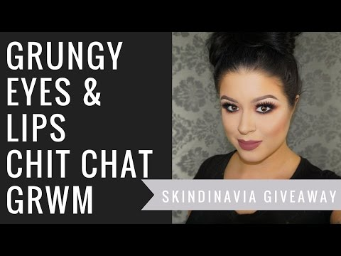GRUNGEY EYES AND LIPS | CHIT CHAT GRWM | GIVEAWAY (CLOSED)
