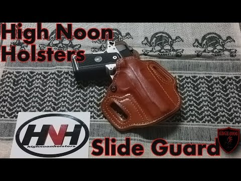High Noon Holsters OWB Slide Guard Leather Holster Para Ordnance P13