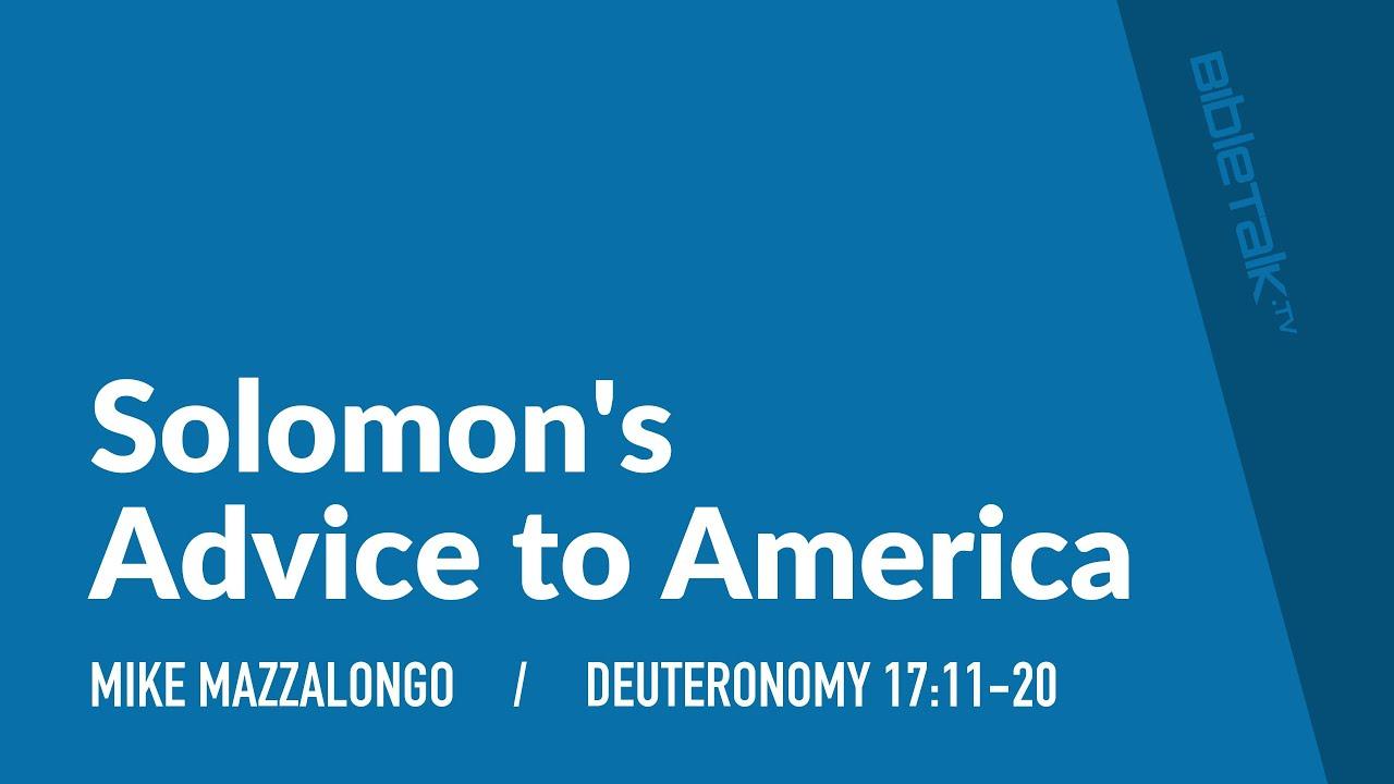 Solomon s strategy for success bibletalk tv
