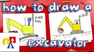 How To Draw An Excavator (for Young Artists)