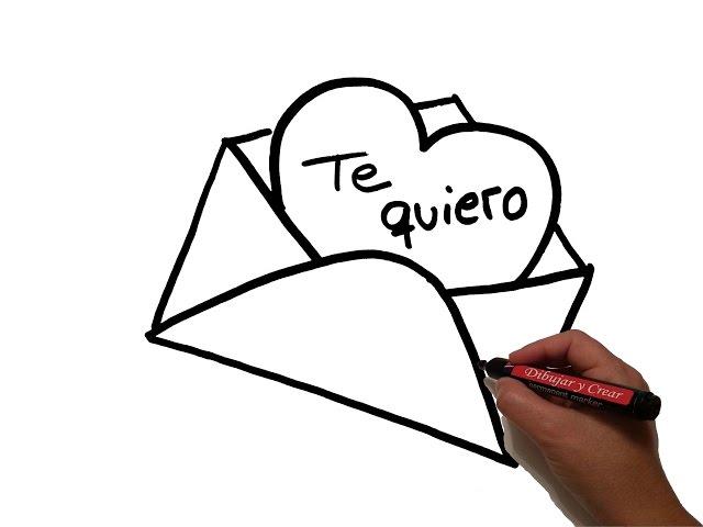 Dibujos Para Colorear Faciles De Hacer De Piolin: Video Como Dibujar: Carta De Amor / How To Draw Love Letter