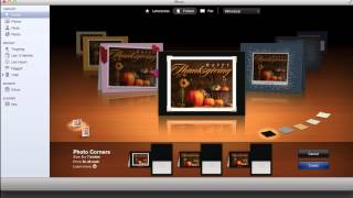 How to Create a Holiday card using iPhoto on your mac- step by step
