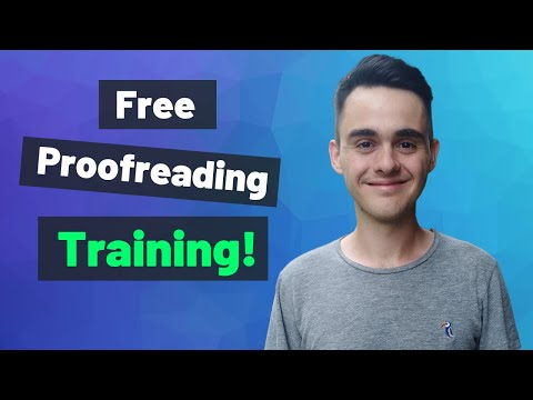 Get Paid to Proofread (Freelance Proofreading Training) - YouTube