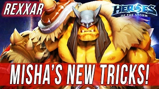 REXXAR, MISHA'S NEW TRICKS! - SOLO QUEUE SILLINESS - Heroes Of The Storm