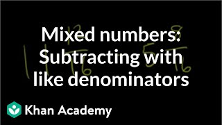 Adding subtracting mixed numbers 0.5 (ex 2)