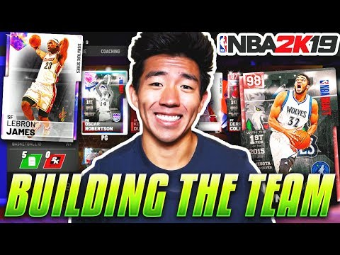 BUILDING THE TEAM! GALAXY OPAL LEBRON JAMES! NBA 2K19 MyTeam Ep.1