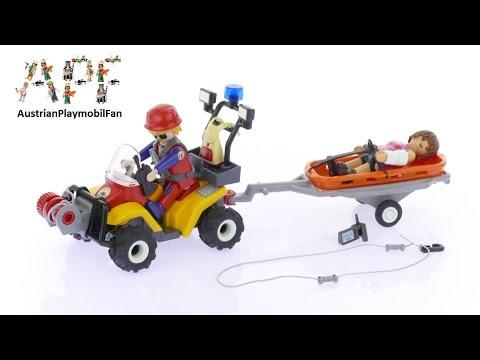 Vidéo PLAYMOBIL Action 9130 : Secouriste des montagnes avec quad