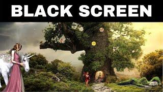 Relaxing Music for Sleeping BLACK SCREEN | FAIRY GARDEN | DARK SCREEN Sleep Music
