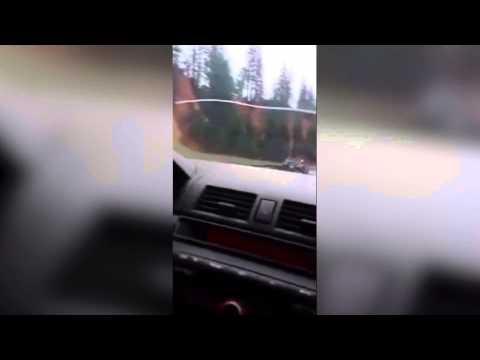 The Terrifying Moment A Car Is Rammed Off A Mountain Highway In The US